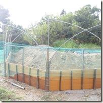 手作りの「ナナコ垣」風フェンス