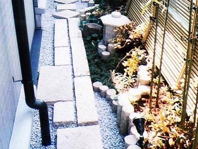 狭い庭 通路庭