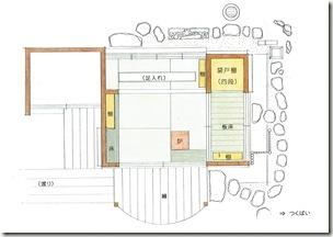 茶室平面図