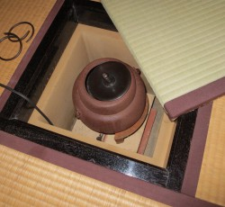 茶室に納めた本炉壇