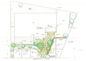 雑木のアプローチ 平面図