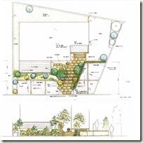 計画図 雑木の庭